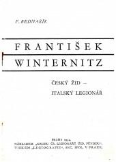 František Winternitz, český Žid a italský legionář