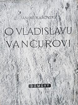 O Vladislavu Vančurovi obálka knihy
