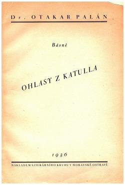 Ohlasy z Katulla obálka knihy