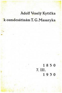 Kytička k osmdesátinám T.G.Masaryka obálka knihy