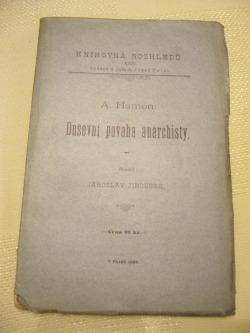 Duševní povaha anarchisty obálka knihy