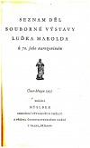 Seznam děl souborné výstavy Luďka Marolda k 70. jeho narozeninám: únor-březen 1935