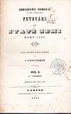 Abrahama Norova Putování po Svaté zemi roku 1835. Díl I.