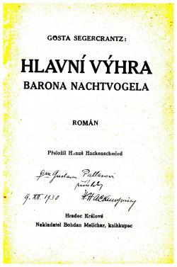 Hlavní výhra barona Nachtvogela obálka knihy