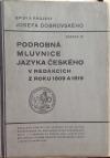 Podrobná mluvnice jazyka českého v redakcích z roku 1809 a 1819