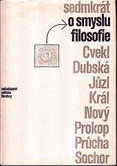 Sedmkrát o smyslu filosofie obálka knihy