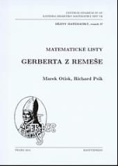 Matematické listy Gerberta z Remeše obálka knihy