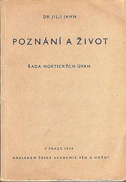 Poznání a život - řada noetických úvah obálka knihy