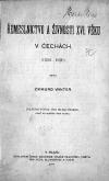 Řemeslnictvo a živnosti 16. věku v Čechách (1526-1620)