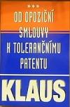 Od opoziční smlouvy k tolerančnímu patentu obálka knihy