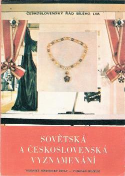 Sovětská a československá vyznamenání obálka knihy
