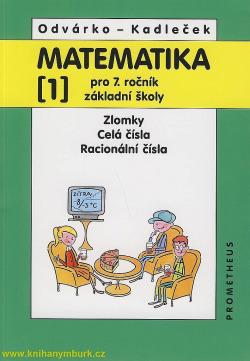 Matematika 1 pro 7. ročník ZŠ obálka knihy