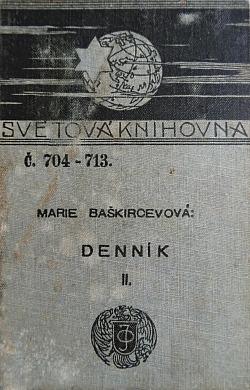 Denník Marie Baškircevové II. svazek obálka knihy