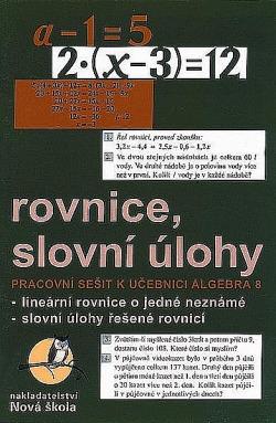Rovnice, slovní úlohy obálka knihy