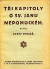 Tři kapitoly o sv. Janu Nepomuckém