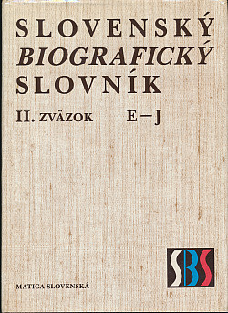 Slovenský biografický slovník II. E – J