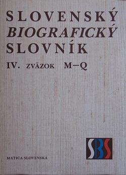 Slovenský biografický slovník IV. M – Q