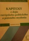 Kapitoly z dejín európskeho politického a právneho myslenia