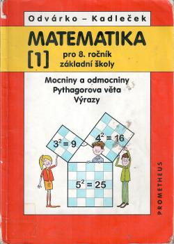 Matematika pro 8. ročník základní školy, 1. díl obálka knihy