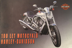 100 let motocyklů Harley-Davidson obálka knihy