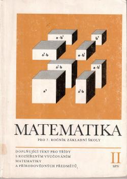 Matematika pro 7. ročník základní školy, II. díl obálka knihy