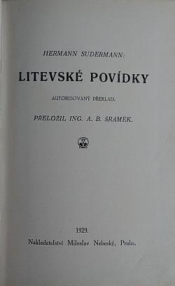Litevské povídky obálka knihy