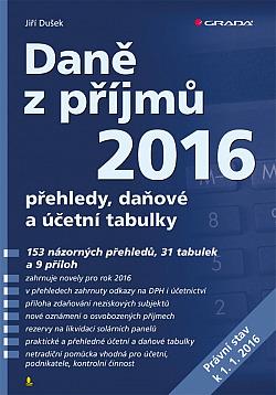 Daně z příjmů 2016 obálka knihy
