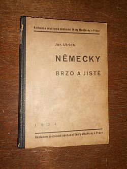 Německy brzo a jistě obálka knihy