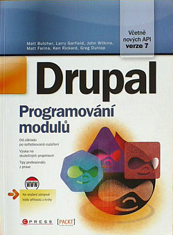 Drupal - programování modulů obálka knihy