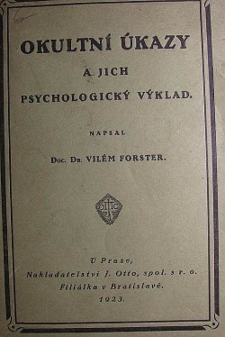 Okultní úkazy a jich psychologický výklad obálka knihy