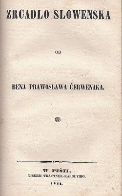 Zrcadlo Slowenska obálka knihy