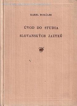 Úvod do studia slovanských jazyků obálka knihy
