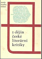 Z dějin české literární kritiky obálka knihy