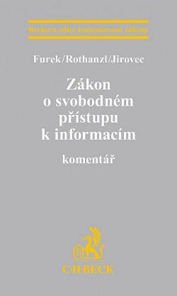 Zákon o svobodném přístupu k informacím obálka knihy
