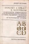 Doplnky a opravy k slovníkom