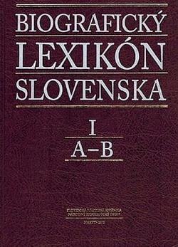 Biografický lexikón Slovenska I obálka knihy