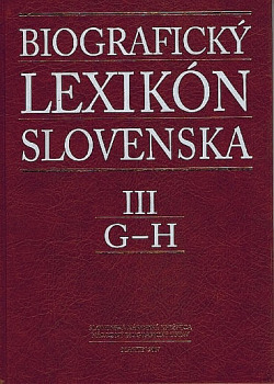 Biografický lexikón Slovenska III obálka knihy