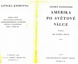 Amerika po světové válce obálka knihy