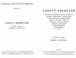Lidový sekretář obálka knihy
