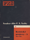 Kritické projevy - 5 (1901-1904)