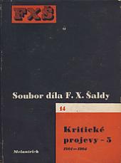 Kritické projevy - 5 (1901-1904) obálka knihy