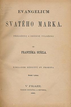 Evangelium svatého Marka obálka knihy
