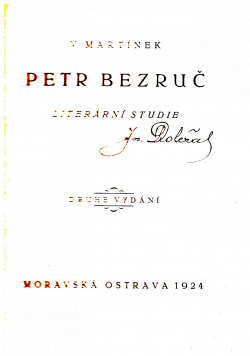 Petr Bezruč obálka knihy