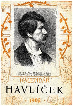 Kalendář Havlíček na rok 1905 obálka knihy