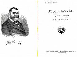Josef Navrátil - jeho život a dílo obálka knihy
