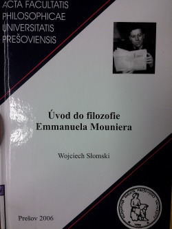 Úvod do filozofie Emmanuela Mouniera obálka knihy