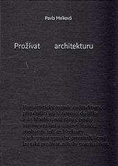 Prožívat architekturu obálka knihy