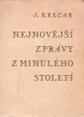 Nejnovější zprávy z minulého století obálka knihy