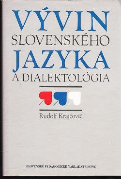 Vývin slovenského jazyka a dialektológia obálka knihy