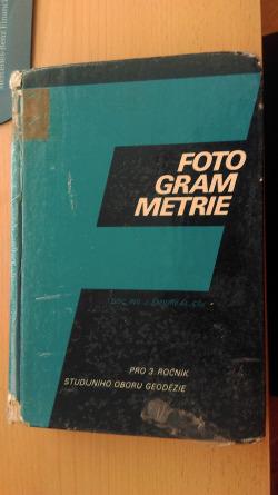 Fotogrammetrie obálka knihy